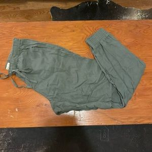 Abercrombie & Fitch Olive Joggers Size S